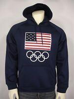 Team Apparel Usa Flag Olympic Rings Hoodie Sweatshirt Men's L