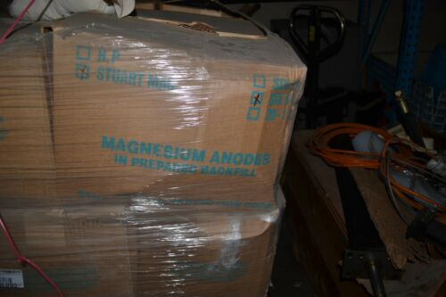STUART STEEL CORP  MAGNESIUM ANODE 6 LOT OF 6 #5 BAGS WITH WIRE 80 POUNDS TOTAL