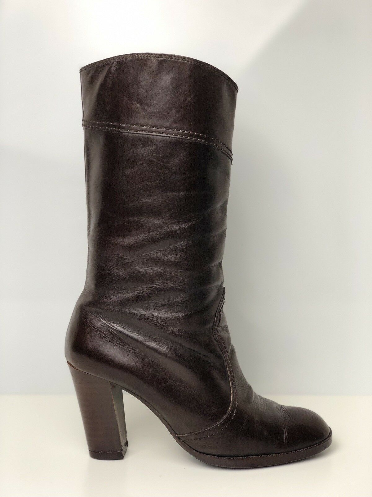 Russell Mi-Mollet and Bromley Femme en Cuir Marron Mi-Mollet Russell Bottes Taille 819860