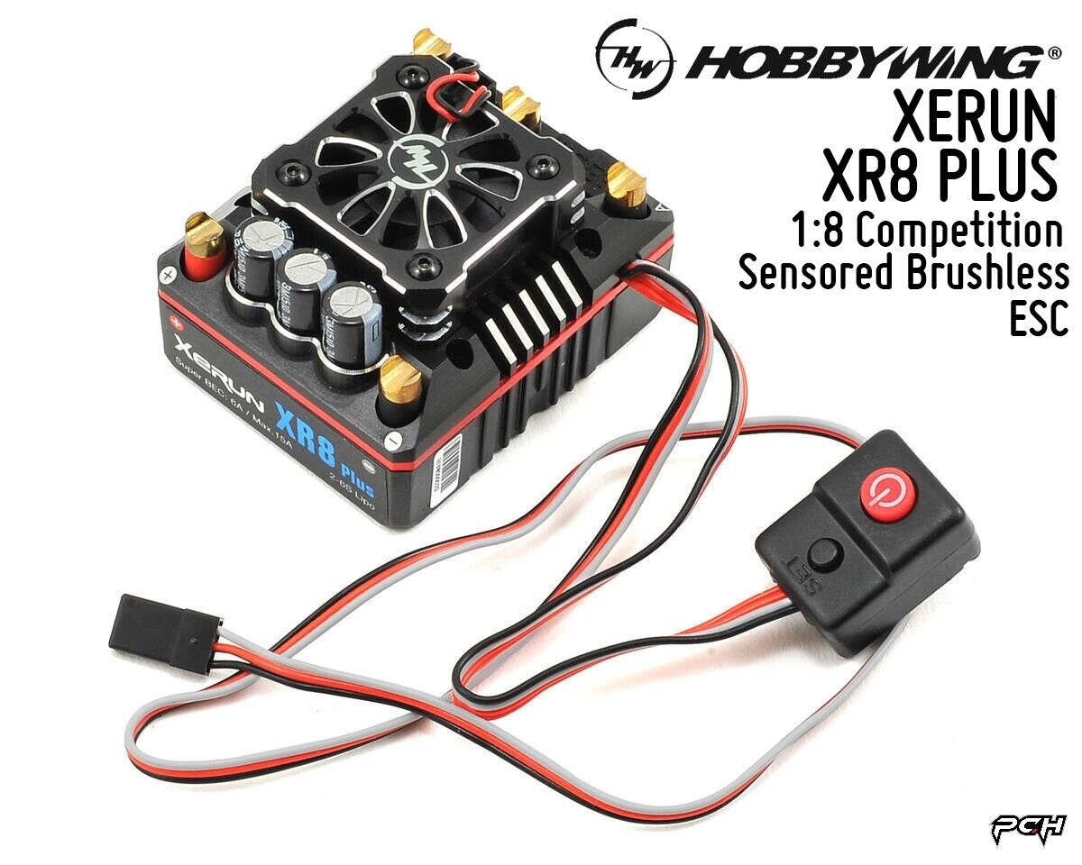 Hobbywing XERUN XR8 Plus 1 8 competencia Sensorojo sin escobillas Esc HBW30113300