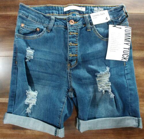 !iT Tummy Tuck Jeans Blue Distressed Denim Shorts