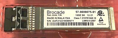 for FCOE and VDX switches />500pc Brocade 57-0000075-01 10G-SFPP-SR 10GbE SR SFP