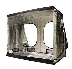 New Design 2.4m X 1.2m X 2m Portable Grow Tent Silver Mylar Hydroponic Dark Room