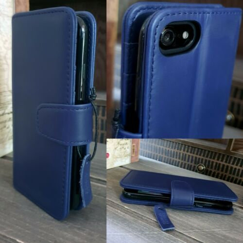 Samsung Galaxy S20 ULTRA Real Leather Pelle Wallet Folio Book Case Blue Exec