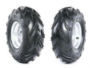 2er Set Komplettrad Felge Reifen 3-Loch 16x8-7 silber rechts/links Quad ATV Kind