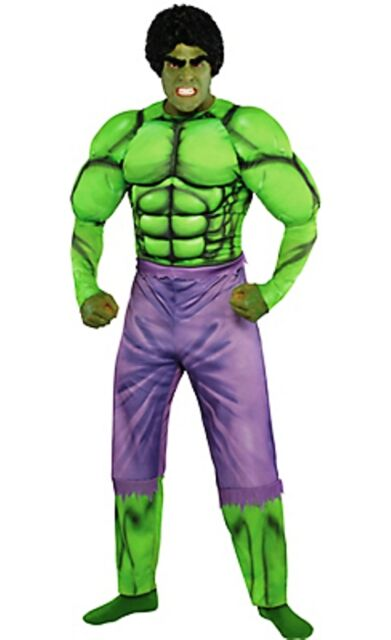 The Avengers Incredible Hulk Muscle Adult Costume Marvel Comics Brand New - 953  sc 1 st  eBay & The Avengers Incredible Hulk Muscle Adult Costume Marvel Comics ...