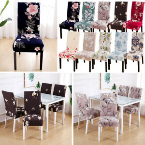Awesome Details About Home Removable Floral Dining Room Chair Covers Wedding Stretch Seat Cover Decor Ibusinesslaw Wood Chair Design Ideas Ibusinesslaworg