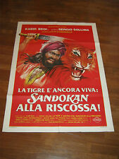 manifesto 2F,SANDOKAN ALLA RISCOSSA,KABIR BEDI,SOLLIMA SALGARI 1977