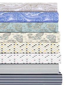 300-Thread-Count-Soft-Percale-Weave-100-Cotton-Deep-Pockets-Sheet-sets-Printed