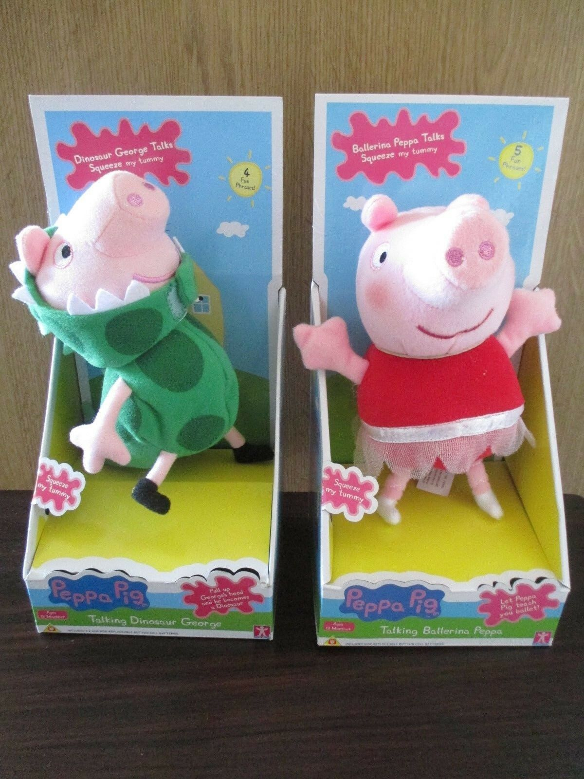 Ballerina Peppa Pig Talking Dinosaur George Soft Toy Toy Toy 8 Inches Tall NEW & BOXED e23f5a