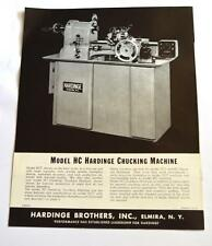 Hardinge Hc Hct Precision Chucking Machines Brochure