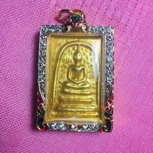 Gring Thai Amulet Buddha  Lp Phra Old Pendant Magic Talisman Lucky PHRA Somdej
