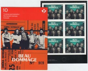 BEAU-DOMMAGE-Canadian-Recording-Artists-One-BKL-Page-of-6-stamps-Canada-2013