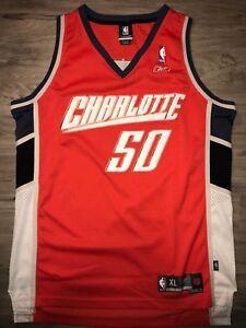 8ed52930300 Emeka Okafor Men s XL Reebok Swingman Orange Charlotte Bobcats NBA ...