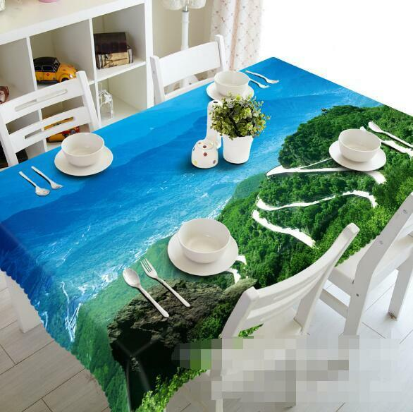3D Mountains 6 Tablecloth Table Cover Cloth Birthday Party Event AJ WALLPAPER AU