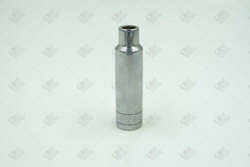 """3//8/"""" 12pt Deep Fractional Chrome Socket SK Hand Tools 40812 1//2/"""" Dr"""