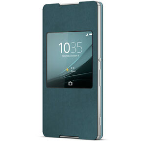 huge discount 39691 7c543 Details about GENUINE SONY XPERIA Z3 + PLUS SCR30 STYLE COVER WINDOW VIEW  CASE FOR Z3+ | AQUA