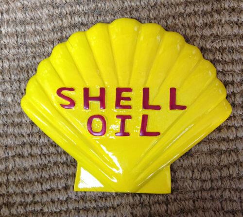 Vintage Shell Logo Cast metal sign  Garage Sign shell motor