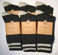 6 - Pairs Of Men's Boot  Adirondack Wool Blend Fall Winter Socks Size 10-13 NEW