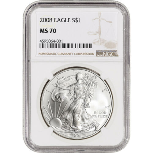 NGC MS70 2008 American Silver Eagle