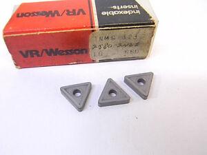 NEW-SURPLUS-3PCS-VR-WESSON-TNMG-323-GRADE-660-CARBIDE-INSERTS