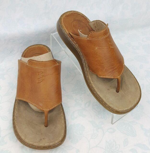 e53ed67b4623 Dr. Martens Brown Leather Platform Thong Flip Flop Sandals Women s Sz US 6  EU