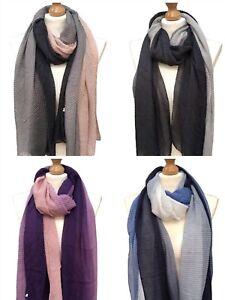 Womens Crinkled Scarf Cotton Long Shawl Soft Warm