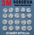 20 Pcs of 3M Double Sided Adhesive Foam Dots White 9080EVA 2CM
