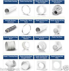 Plastic 6 inch 150mm Round Ducting Pipe Ventilation ...