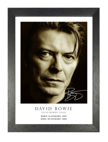 David Bowie Tribute 51 English Singer Poster Music Legend Star Photo Signed