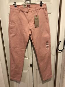 NWT Levi's XX Chino Standard Taper Pants Rose Pink Stretch Regular Size 34 x 30