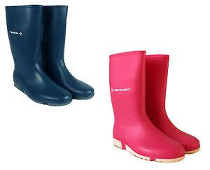 kids girls snow rain dunlop wellington boots waterproof ladies wellies shoes
