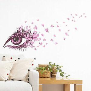Hagalo-usted-mismo-Ojos-Rosa-Mariposa-Patron-Espacio-de-Arte-Pegatina-Dormitorio-Hogar-Decoracion