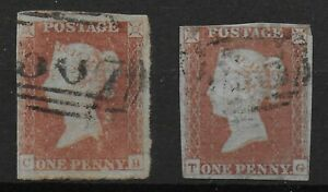 SG8-1841-1d-Red-Brownx2-FU-With-4-Margins-Close-In-Places-Clean-Backs-Ref-07175
