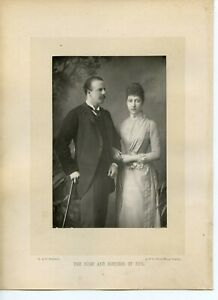 Vintage-Cabinet-Card-by-W-amp-D-Downey-Duke-amp-Princess-Louise-Duchess-of-Fife