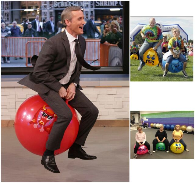 Big Jumping Inflatable Ball Adult Size Ball Bouncy Yellow Hopping Hopper Ball