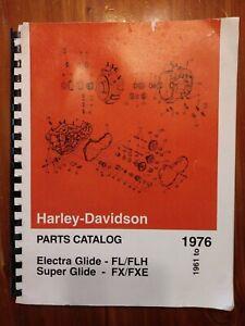 Harley Davidson Motorcycle Parts Catalog 1971 1976 Ebay