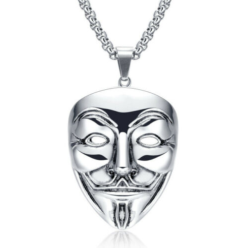 Jewelry V for Vendetta Hacker Mask Exaggerated Necklaces 2 Colors Great Gift Hot