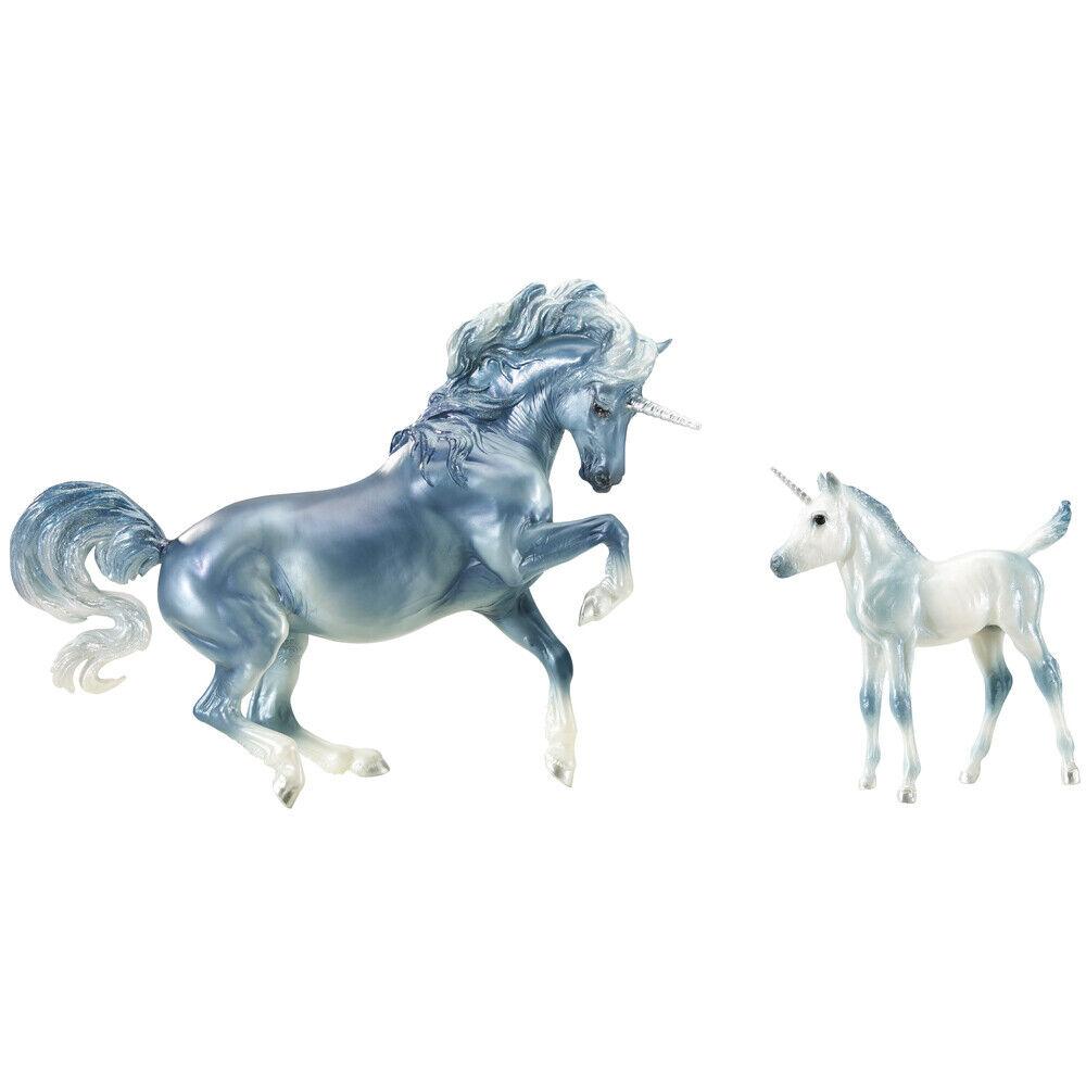 Breyer tradizionale serie CASCADE & CASPIAN Unicorno  cifra Set-Scala 1 9  presentando tutte le ultime tendenze della moda