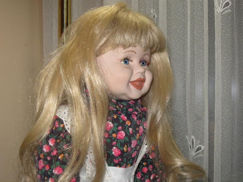 Vintage Porcelain Blonde Doll Frieda Frieda Frieda Europe 62 CM 2b892e