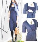 LACEY Maternity Dress Breastfeeding Dress, Nursing Dress BLUE NEW Pregnancy