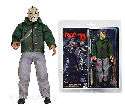 """8"""" JASON VOORHEES figure RETRO-STYLE CLOTHED series FRIDAY THE 13TH doll NECA"""