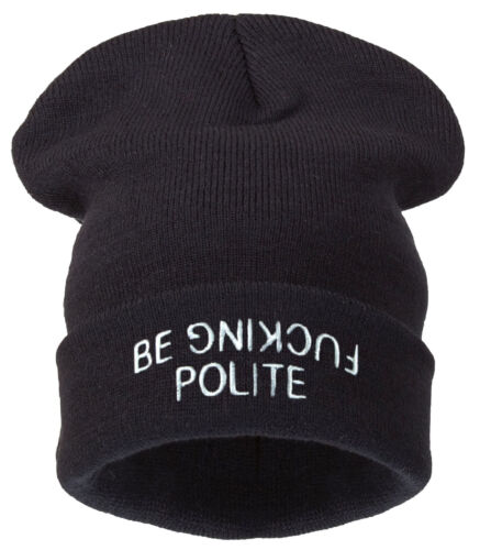 Beanie Hat Mens Ladies Womens Kids Slouch Winter Woolly Ski Knitted Turn Up Warm