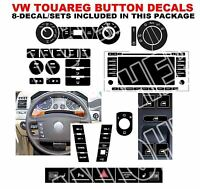 Touareg Button Stickers Radio A/c Steering Wheel Headlight Window Hazard/parking