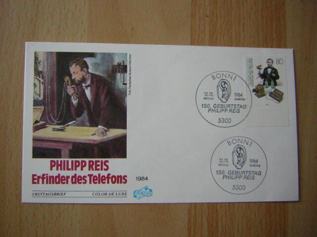 Ersttagsbrief / FDC, BRD 12.01.1984   Philipp Reis (1198)