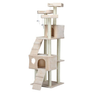70-039-039-Cat-Tree-Condo-Sisal-Covered-Scratching-Posts-Mouse-Toy-Pet-Bed-Nature