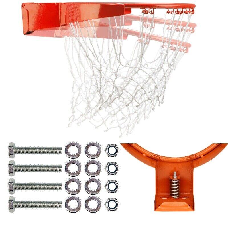 Basketballring mit Feder und und und Netz - Marke New Port® - Metall Basketball Korb 6536a4