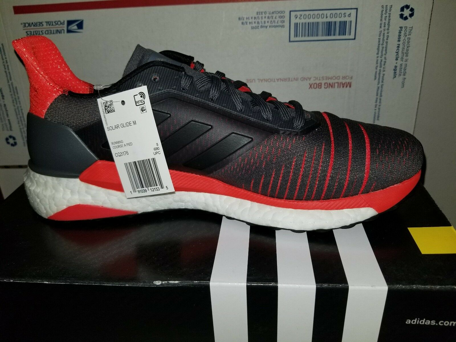 Adidas Men's Running Solar Glide M Boost Tennis shoes CQ3176 Size 9