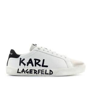 Men S Shoes Karl Lagerfeld Skool White Sneaker Fw2020 Ebay
