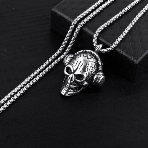 3D Cool Skull Head Model Necklace Unisex Pendant Fashion Gift Accessories